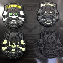 Set of 4 Flashbang patches (Night ops edition / version B)