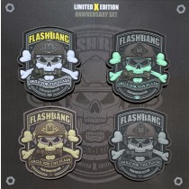 Set of 4 Flashbang patches (Team Wendy EXFIL edition)