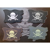 Set of 4 Flashbang pirate flag patches (Version A)