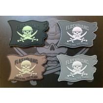Set of 4 Flashbang pirate flag patches (Version B)